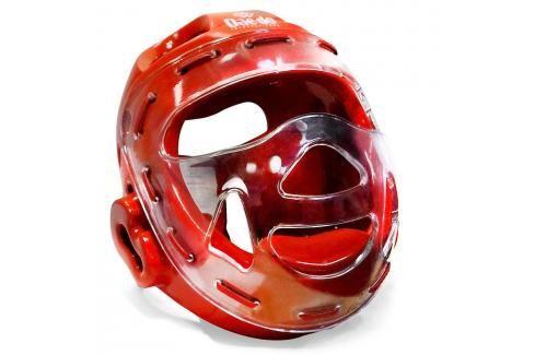 Daedo přilba WTF s maskou - červená červená S Boxerské helmy