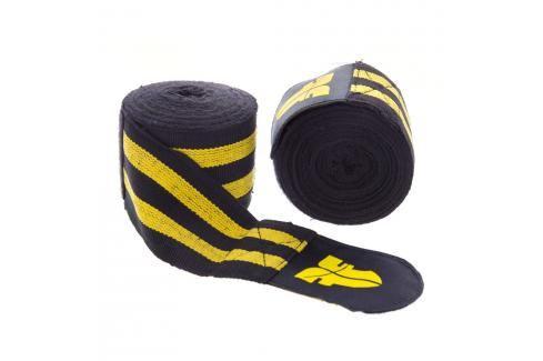 Bandáže Fighter - černá/žlutá černá 2,5 Boxerské bandáže