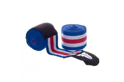 Bandáže Fighter - modrá/bílá/červená modrá 2,5 Boxerské bandáže
