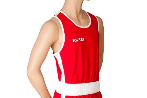 Top Ten boxerské tílko - červená červená XXL Pánská trička