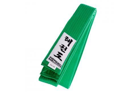 Fighter Taekwondo ITF pásek - zelená zelená 180 Pásky ke kimonu
