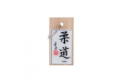 Přívěsek kaligrafie Judo přírodní Klíčenky