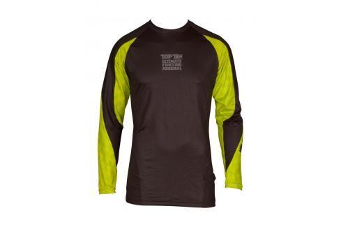 Top Ten rashguard UFA - černá/žlutá černá S Pánská trička