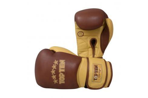 Boxerské rukavice Top Ten Heritage hnědá 10 Boxerské rukavice