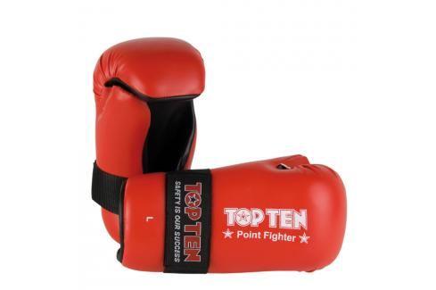 Otevřené rukavice Top Ten Point Fighter - červená červená XL Boxerské rukavice