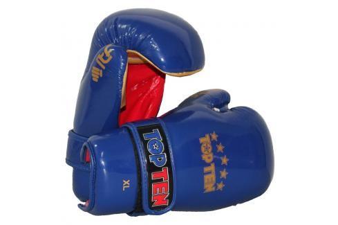 Otevřené rukavice TOP TEN ITF - modrá modrá M/L Boxerské rukavice