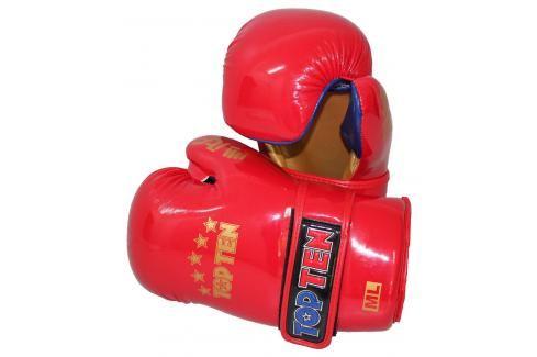Otevřené rukavice TOP TEN ITF - červená červená M/L Boxerské rukavice
