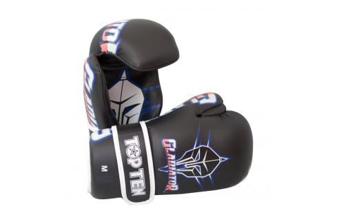 Otevřené rukavice TOP TEN Gladiator černá S Boxerské rukavice