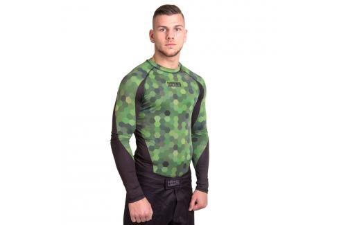Rashguard Fighter - Hexagon černá S Pánská trička