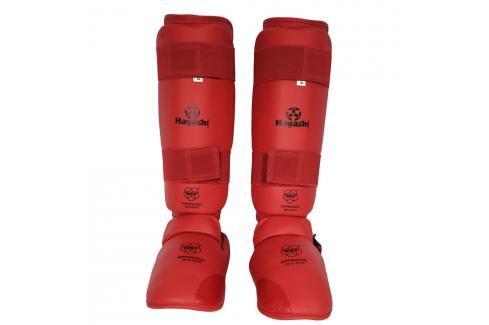 Chrániče holení a nártů Hayashi WKF - červená červená S Boxerské chrániče