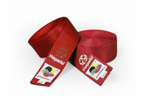 Saténový pásek Hayashi - červená červená 260 Pásky ke kimonu