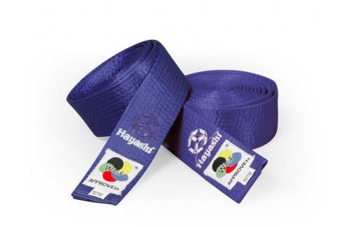 Saténový pásek Hayashi - modrá modrá 260 Pásky ke kimonu
