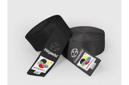 Saténový pásek Hayashi - černá černá 260 Pásky ke kimonu