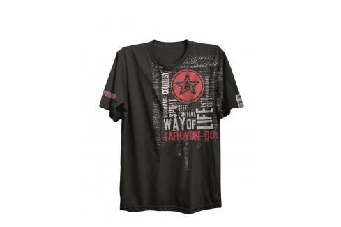 Triko Top Ten Taekwondo ITF - černá černá XS Pánská trička
