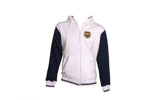 Mikina s kapucí Top Ten Coat of Arms - bílá/modrá bílá XS Pánské bundy a kabáty