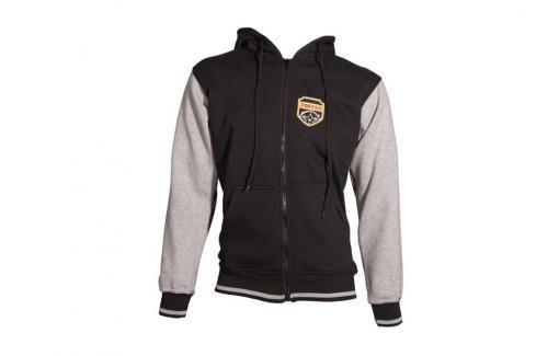 Mikina s kapucí Top Ten Coat of Arms - černá/šedá černá S Pánské bundy a kabáty