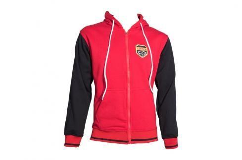 Mikina s kapucí Top Ten Coat of Arms - červená/černá červená XS Pánské bundy a kabáty