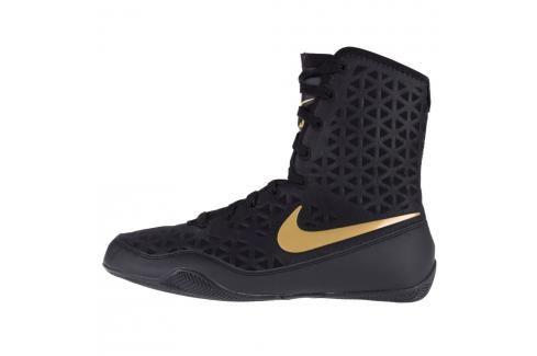 Boxerské boty Nike KO - černá/zlatá černá 6 Pánská obuv