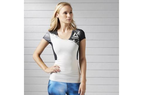 Reebok Activchill kompresní dámské triko bílá L Pánská trička