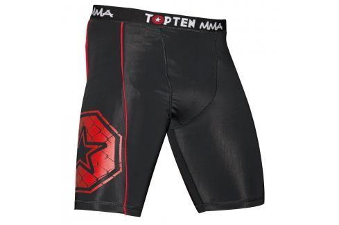 Top Ten MMA kompresní šortky - černá černá S Pánské šortky
