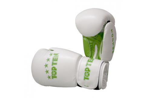 Boxerské rukavice Top Ten Basic - bílá/zelená bílá 10 Boxerské rukavice