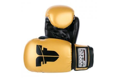 Rukavice Fighter Basic - zlatá zlatá 12 Boxerské rukavice