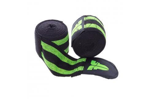 Bandáže Fighter - černá/zelená černá 2,5 Boxerské bandáže