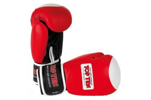 Boxerské rukavice TOP TEN Olympia - červená červená 10 Boxerské rukavice