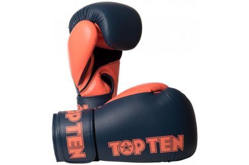 Boxerské rukavice Top Ten XLP - šedá/oranžová šedá 10 Boxerské rukavice