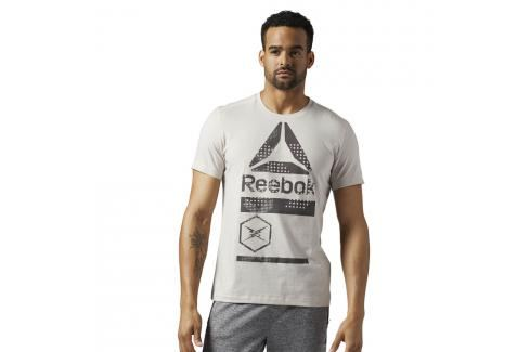 Reebok Speedwick Graphic Triko krémová S Pánská trička
