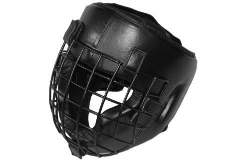 Fighter Shock přilba s mřížkou černá Boxerské helmy