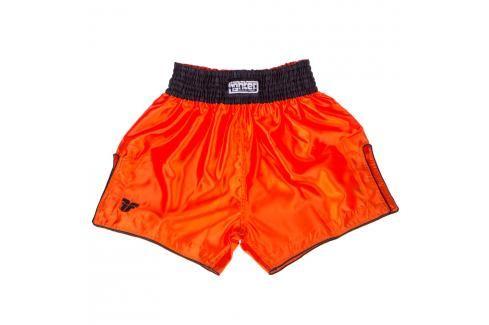 Thai trenky Fighter Bangkok Plain - oranžová/černá oranžová S Pánské šortky