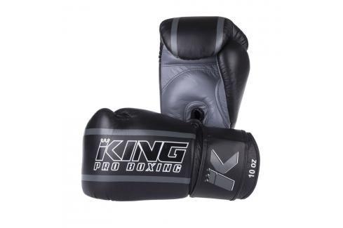 Boxerské rukavice King ELITE - černá/šedá černá 12 Boxerské rukavice