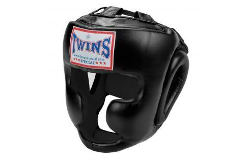 Přilba Twins s lícnicemi - černá černá S Boxerské helmy