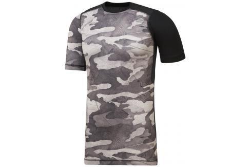 Reebok Activchill Compression Exo Camo triko černá S Pánská trička