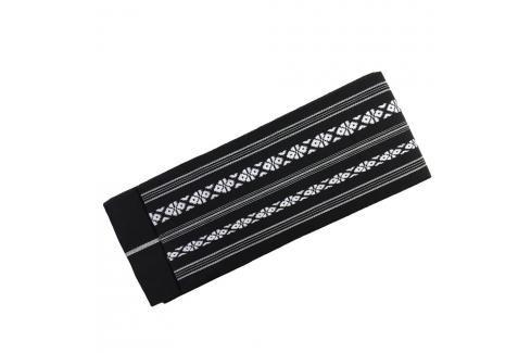 Iai tkané Obi DELUXE - černá černá Pásky ke kimonu