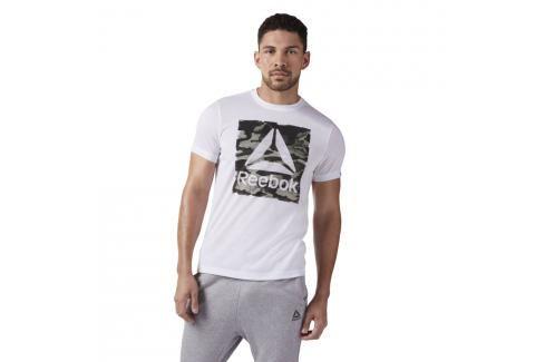 Reebok Camo Logo Triko bílé bílá S Pánská trička