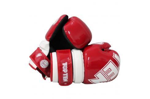 Otevřené rukavice Top Ten BLOCK - červená/bílá červená S Boxerské rukavice