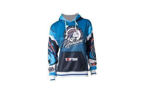 Top Ten mikina s kapucí Mohican modrá S Pánské bundy a kabáty