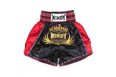 Thai trenky Windy - černá/červená/zlatá černá S Pánské šortky