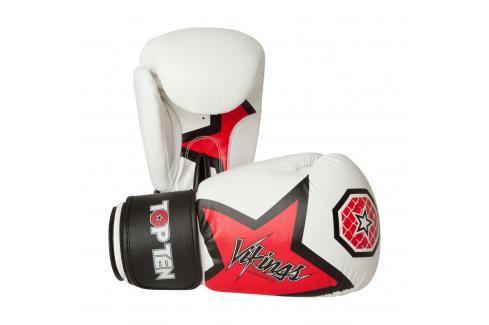 Boxerské rukavice Top Ten Vikings - bílá/červená bílá 12 Boxerské rukavice