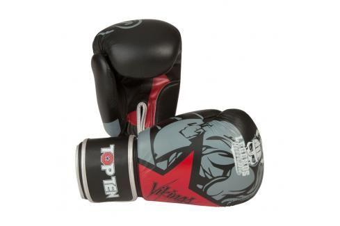 Boxerské rukavice Top Ten Vikings - černá/červená černá 10 Boxerské rukavice
