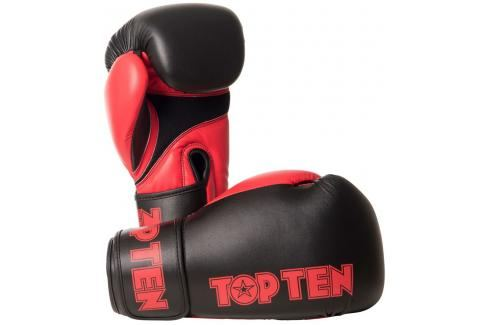 Boxerské rukavice Top Ten XLP - černá/červená černá 10 Boxerské rukavice