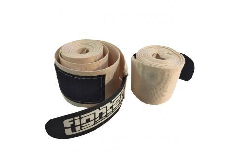 Neelastické bandáže Fighter bílá 2,5 Boxerské bandáže