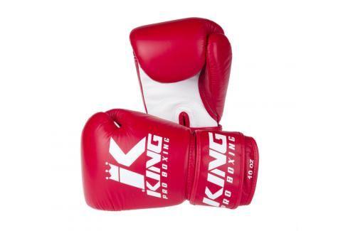 King Pro Boxing boxerské rukavice - červená/bílá červená 10 Boxerské rukavice