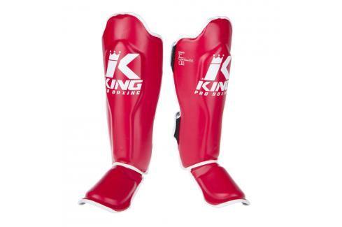 King Pro Boxing chrániče holení s nártem - červená/bílá červená S Boxerské chrániče