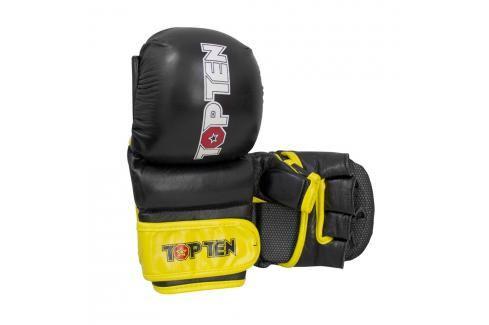 Rukavice Top Ten MMA Striking - černá/žlutá černá S Boxerské rukavice