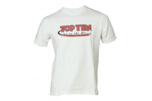 Triko TOP TEN Get in the Ring - bílá bílá S Pánská trička