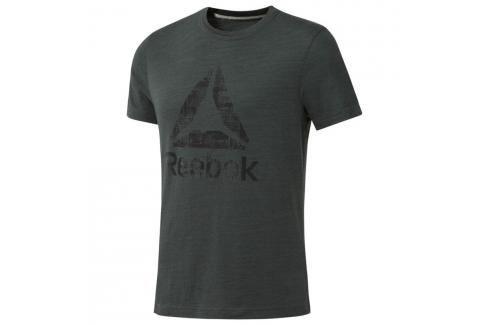 Reebok triko Elements Marble - zelená olivově zelená M Pánská trička