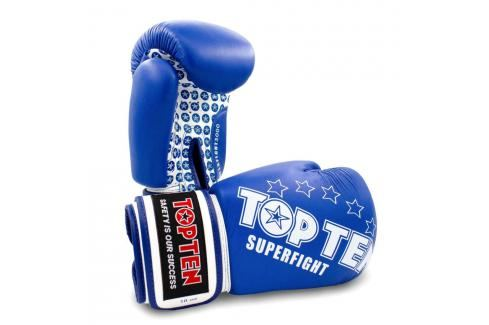 Boxerské rukavice Top Ten Superfight Stars - modrá/bílá modrá 10 Boxerské rukavice